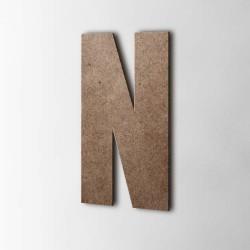 Holzbuchstabe N Impact MDF Braun