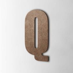 Holzbuchstabe Q Impact MDF Braun