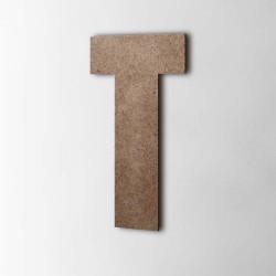Holzbuchstabe T Impact MDF Braun