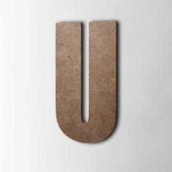 Holzbuchstabe U Impact MDF Braun