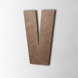 Holzbuchstabe V Impact MDF Braun