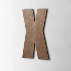 Holzbuchstabe X Impact MDF Braun