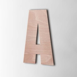 Holzbuchstabe A Impact Okoume