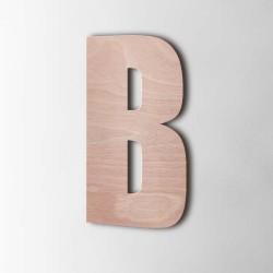 Holzbuchstabe B Impact Okoume
