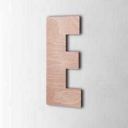 Holzbuchstabe E Impact Okoume
