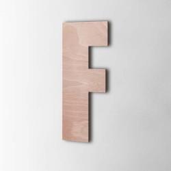 Holzbuchstabe F Impact Okoume