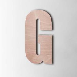 Holzbuchstabe G Impact Okoume