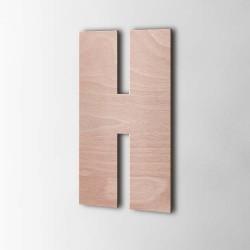 Holzbuchstabe H Impact Okoume