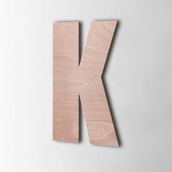 Holzbuchstabe K Impact Okoume