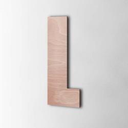 Holzbuchstabe L Impact Okoume