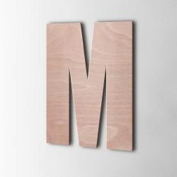 Holzbuchstabe M Impact Okoume