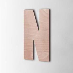 Holzbuchstabe N Impact Okoume