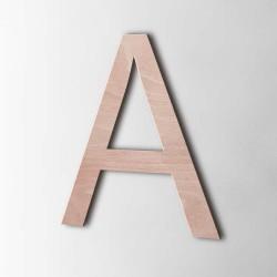 Holzbuchstabe A Arial Okoume