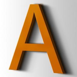 Acrylbuchstaben A Arial 2004 Reinorange