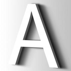 Acrylbuchstaben A Arial 9016 Verkehr Weiß