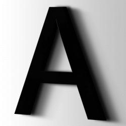 Acrylbuchstaben A Arial 9005 Tiefschwarz