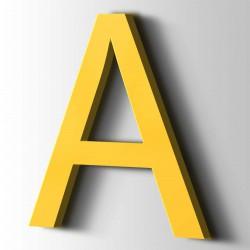 Acrylbuchstaben A Arial 1018 Zinkgelb