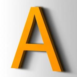 Acrylbuchstaben A Arial 1003 Signalgelb