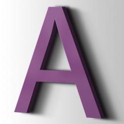 Acrylbuchstaben A Arial 4008 Signalviolett