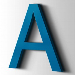 Acrylbuchstaben A Arial 5015 Himmelblau