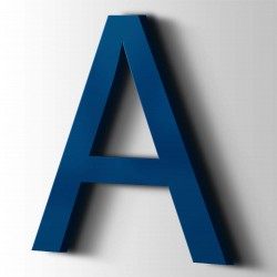 Acrylbuchstaben A Arial 5002 Ultramarinblau