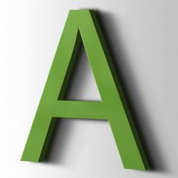 Acrylbuchstaben A Arial 6018 Gelbgrün