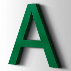 Acrylbuchstaben A Arial 6029 Minzgrün
