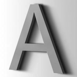Acrylbuchstaben A Arial 7040 Fenstergrau