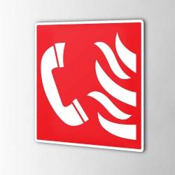 Notfalltelefon Feuerschutz Aufkleber