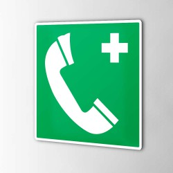 Notfalltelefon Aufkleber