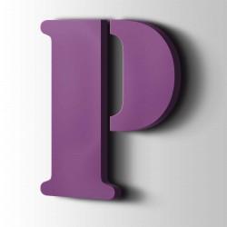 Acrylbuchstaben P Stencil 4008 Signalviolett