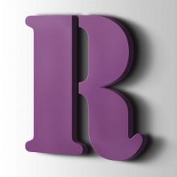 Acrylbuchstaben R Stencil 4008 Signalviolett
