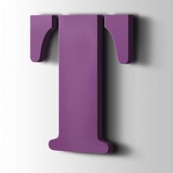 Acrylbuchstaben T Stencil 4008 Signalviolett