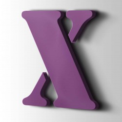 Acrylbuchstaben X Stencil 4008 Signalviolett