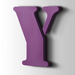 Acrylbuchstaben Y Stencil 4008 Signalviolett