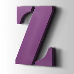 Acrylbuchstaben Z Stencil 4008 Signalviolett
