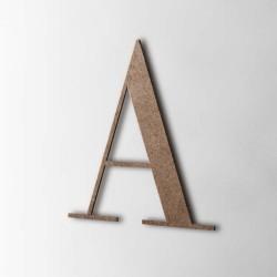 Holzbuchstabe A Bondoni MDF Braun