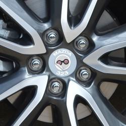 Nabendeckel Aufkleber Mazda 323