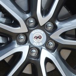 Nabendeckel Aufkleber Mazda RX-8