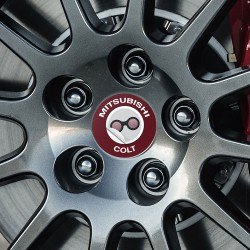Nabendeckel Aufkleber Mitsubishi Colt