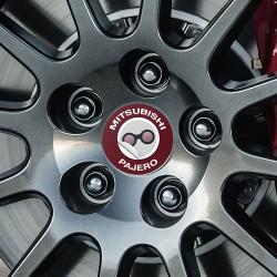 Nabendeckel Aufkleber Mitsubishi Pajero