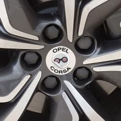 Nabendeckel Aufkleber Opel Corsa
