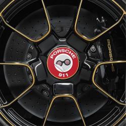 Nabendeckel Aufkleber Porsche 911