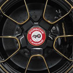 Nabendeckel Aufkleber Porsche Cayenne