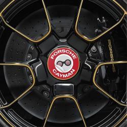 Nabendeckel Aufkleber Porsche Cayman