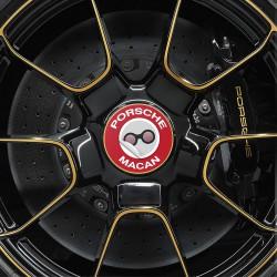 Nabendeckel Aufkleber Porsche Macan