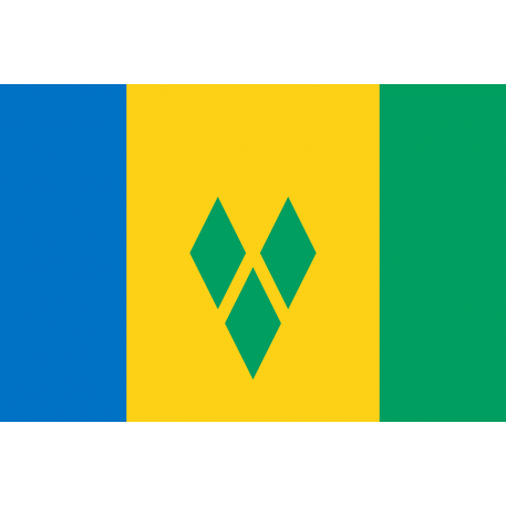 Saint Vincent und Grenadinen Flagge