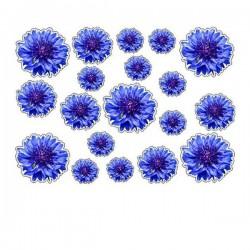 Aufkleber Blumen typ 5 Fahrrad aufkleber blumen