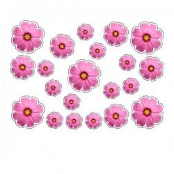 Aufkleber Blumen typ 6 Fahrrad aufkleber blumen