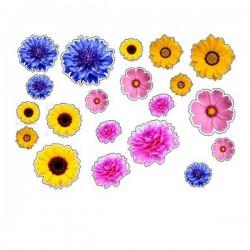 Aufkleber Blumen typ 7 Fahrrad aufkleber blumen